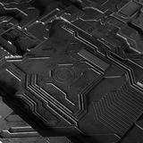 抽象技术背景由另外元素电路板和火光做成 库存图片