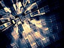 抽象技术背景-数位引起的图象 向量例证