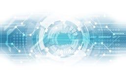 抽象技术芯片组处理器电路板背景 也corel凹道例证向量 免版税库存图片