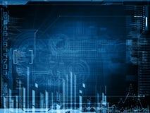 抽象技术设计 免版税库存图片