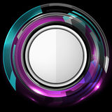 抽象技术紫罗兰背景 免版税图库摄影