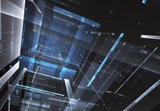 抽象技术3D例证 库存照片