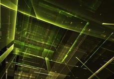 抽象技术3D例证 库存图片