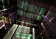 抽象技术3D例证 免版税库存照片