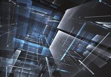 抽象技术3D例证 免版税库存图片
