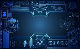 抽象技术ui未来派概念Ai hud接口holog 向量例证