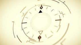 抽象指南针标志平的动画 影视素材
