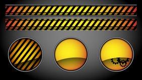 抽象按钮和线路 免版税库存照片