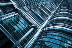 抽象摩天大楼背景 免版税库存图片