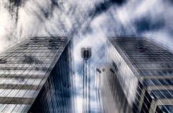 抽象摩天大楼 免版税库存图片