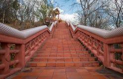 抽象攀登寺庙 免版税图库摄影