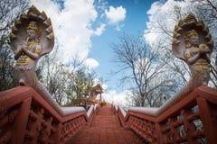 抽象攀登寺庙 免版税库存图片