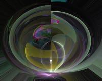 抽象数字分数维充满活力的颜色漩涡曲线作用,装饰充满活力的设计装饰品 库存例证