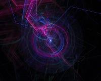 抽象数字分数维幻想软的充满活力的卷毛想象力装饰模板设计回报,行动,漩涡 向量例证