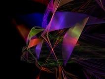 抽象数字式分数维,光线影响装饰混乱能量墙纸未来派样式飘渺设计,党 库存例证