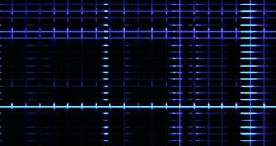 抽象数字式垂直和水平的elettric蓝线背景运动,准备好无缝的圈 向量例证