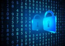 抽象数字式数字安全背景构思设计 向量例证