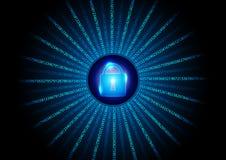 抽象数字式数字安全背景 皇族释放例证