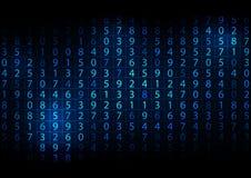 抽象数字式数字背景 向量例证