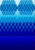 抽象数字式立方体 免版税库存照片