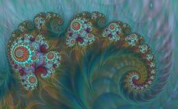 抽象数字式艺术品 本质的模式 不可思议的壳 向量例证