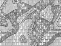 抽象数字式艺术品 库存照片