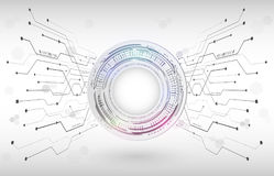 抽象数字式高科技技术概念 辐形计算机 图库摄影