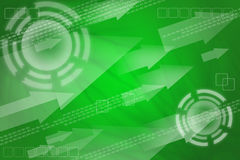 抽象数字式绿色背景 皇族释放例证