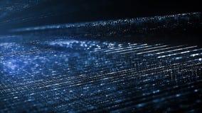 抽象数字技术背景概念 数字资料流程的行动 转移大数据 向量例证