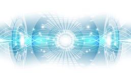 抽象数字技术连接概念 向量背景 免版税库存图片