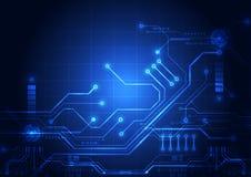 抽象数字电路技术背景 例证传染媒介 库存例证