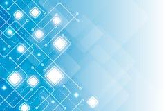 抽象数字线路几何蓝色背景传染媒介 皇族释放例证