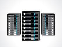 抽象数据服务器集 库存图片
