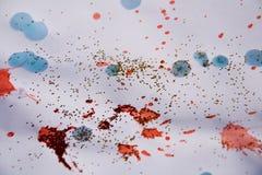 抽象斑点构造,给五颜六色的冬天背景打蜡 库存照片