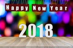 抽象新年好2018年背景 免版税库存图片