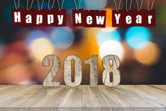 抽象新年好2018年背景 免版税库存照片