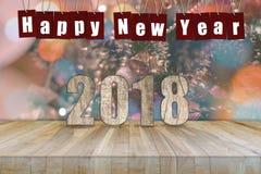抽象新年好2018年背景 免版税图库摄影