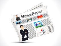 抽象新闻纸张图标 免版税库存图片