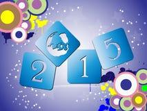 抽象新年好2015年 免版税库存照片