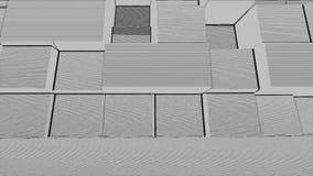 抽象方形框噪声微粒背景,几何动画片马赛克烟爆炸,断裂残骸映象点艺术样式 库存例证