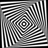 抽象方形的螺旋黑白样式 免版税库存照片