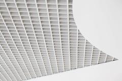 抽象方形的滤网天花板 库存照片