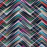 抽象无缝的五颜六色的之字形几何样式 免版税库存图片
