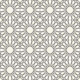 抽象无缝的几何伊斯兰教的墙纸样式 库存例证