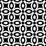 抽象无缝的几何单色花卉样式 库存图片