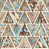 抽象无缝的几何手拉的样式 免版税图库摄影