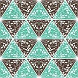 抽象无缝的几何手拉的样式 免版税库存照片
