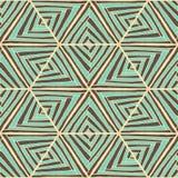 抽象无缝的几何手拉的样式 免版税库存图片