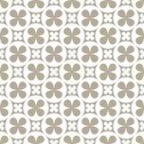 抽象无缝的几何花卉样式 免版税库存图片