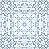 抽象无缝的几何花卉样式 库存图片